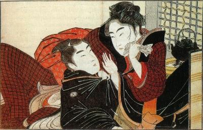 Одна из работ Китагавы Утамаро из серии Поэма подушки