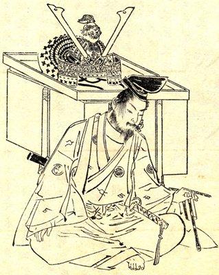 Изображение Минамото-но Ёсицунэ работы Кикути Ёсая