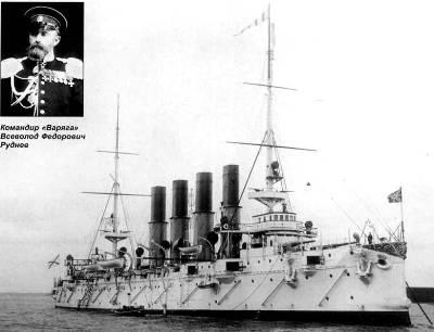 Крейсер Варяг и его командир В. Ф. Руднев