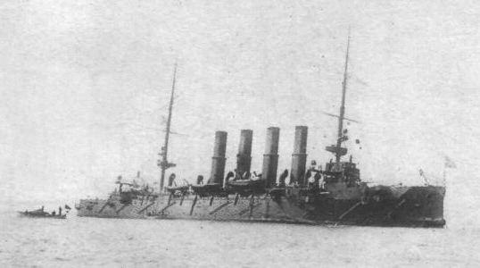Крейсер Варяг после своего знаменитого сражения