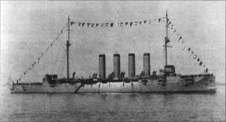 Японский крейсер Сойя - бывший Варяг - на параде